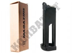 KJ Works Co2 C02 Airsoft Gun Magazine for 1911 Colt Style Handgun GBB Black Metal GC-0305M